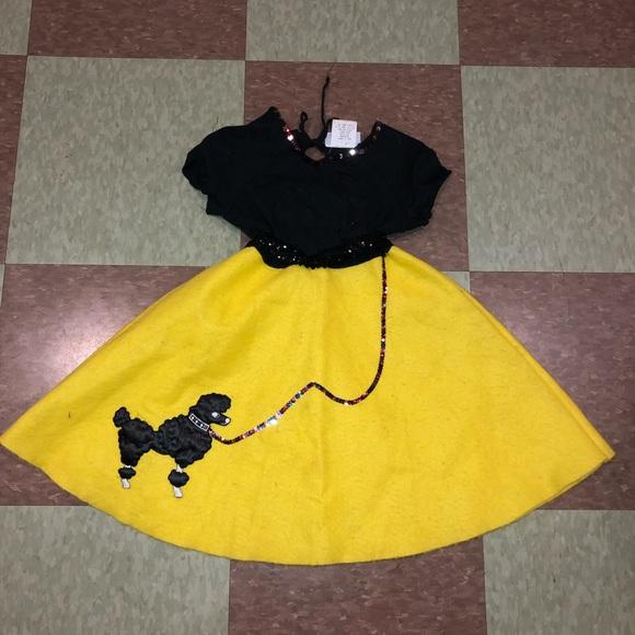 Vintage Other - Vtg 80s kids girls poodle skirt costume dress up